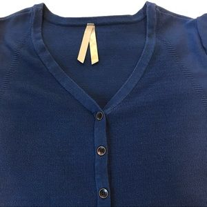 Penningtons women's blue button up cardigan 1x